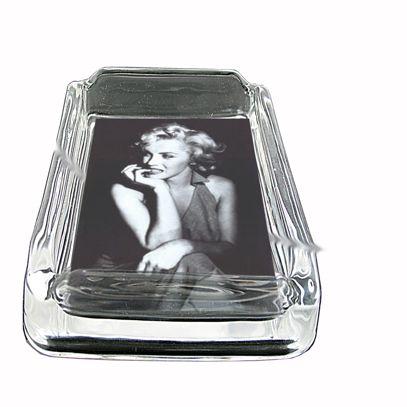 Primary image for Marilyn Monroe Classic Image Glass Square Ashtray 002