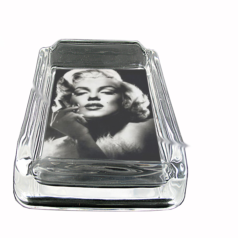 Primary image for Marilyn Monroe Publicity Still Glass Square Ashtray 004