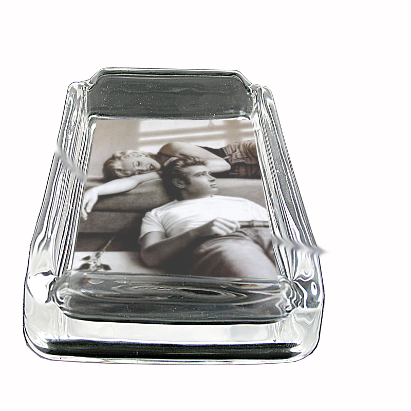 Primary image for Marilyn Monroe James Dean Glass Square Ashtray 009