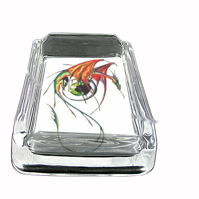 Primary image for Dragon Eyeball Fantasy Tattoo Glass Square Ashtray 139