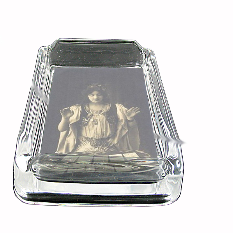 Primary image for France Fortune Teller Gypsy Glass Square Ashtray 176