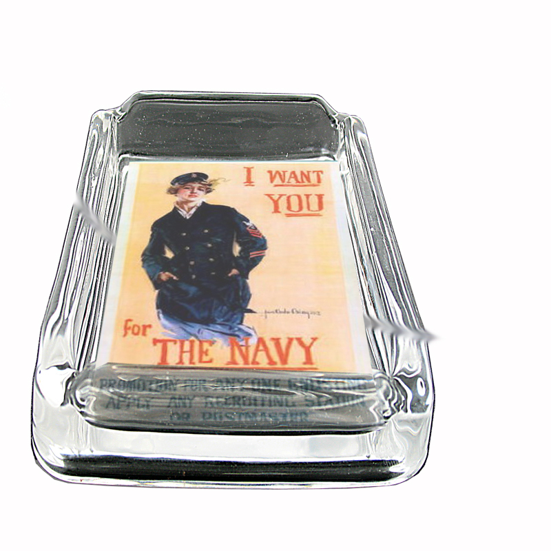 Primary image for Christy Navy Poster Glass Square Ashtray 248