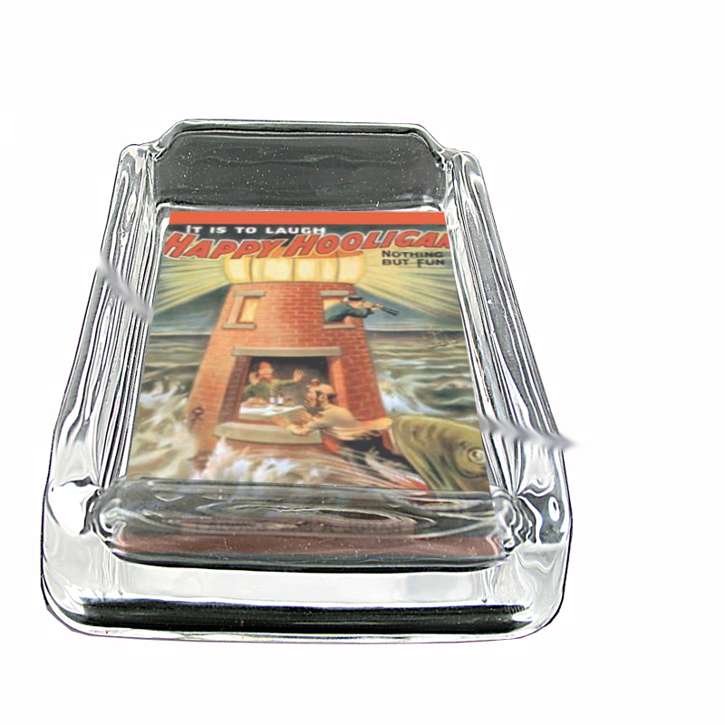 Primary image for Happy Hooligan Theater 4 Glass Square Ashtray 412