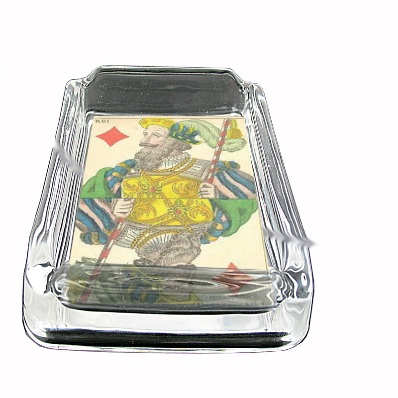 Primary image for Playing Card 1850 King Diamond Glass Square Ashtray 459