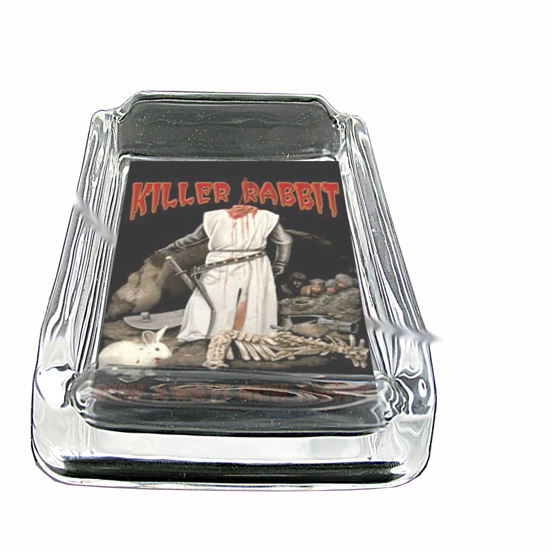 Primary image for Killer Rabbit Funny Horror Glass Square Ashtray 514