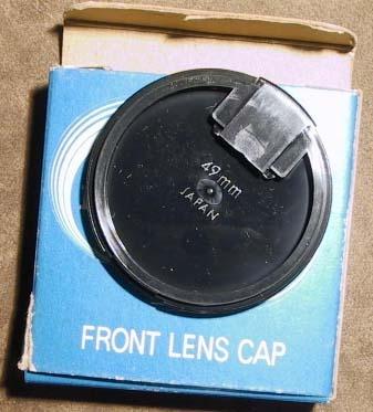 Miranda 49mm Black Snap-On Front Lens Cap in Factory Box-NOS-Japan