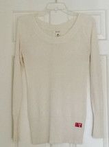 DKNY M White  Sweater Women's Long Sleeve Glitter Party Ready - $0.98