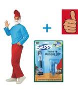 Smurfs - Papa Smurf Costume + Makeup Kit- Adult - Size XL - 44-46 Jacket... - $29.02
