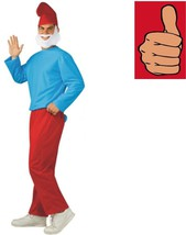 Smurfs - Papa Smurf Costume - Adult - Size Standard - Up to 44 Jacket Size - $27.56