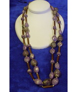 Pyramid Collection Wiccan Purple & Frosted Beads Necklace Free US shipn ... - $18.61