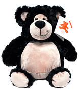 Embroider Buddy Bobby Bear Black 16 Inch Embroidery Stuffed Animal - $29.66