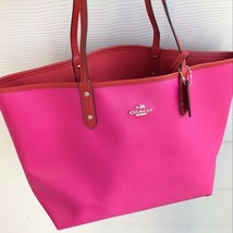 Coach Reversible City Tote Handbag in Carmine/Pink Ruby F36609  Retail $... - $158.39
