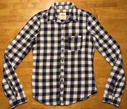 Hollister Women's Blue, Pink & Beige Checkered Long Sleeve Dress Shirt -... - $16.82