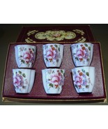 Box Set 6 Single Porcelain Egg Cups Royal Crown... - $160.00