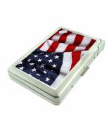 American Flag D13 Cigarette Case with Built in Lighter Metal Wallet Patr... - $16.95