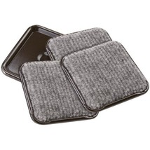 SoftTouch 4291995N 2-1/2 Inch Square Carpet Bottom Furniture Caster Cups to Prot