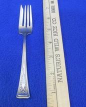 """Salad Fork American Silver Co Roanoke Pattern Silverplate Vintage 6 1/8"""" - $5.93"""