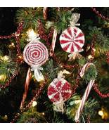 Y317 Crochet PATTERN ONLY 3 Peppermint Candy Christmas Ornament Patterns - $7.50