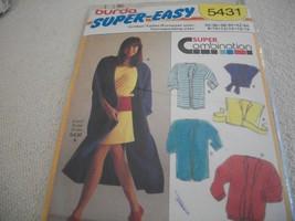 Super Easy Misses' Robe Dress Pattern Burda 5431  - $7.00