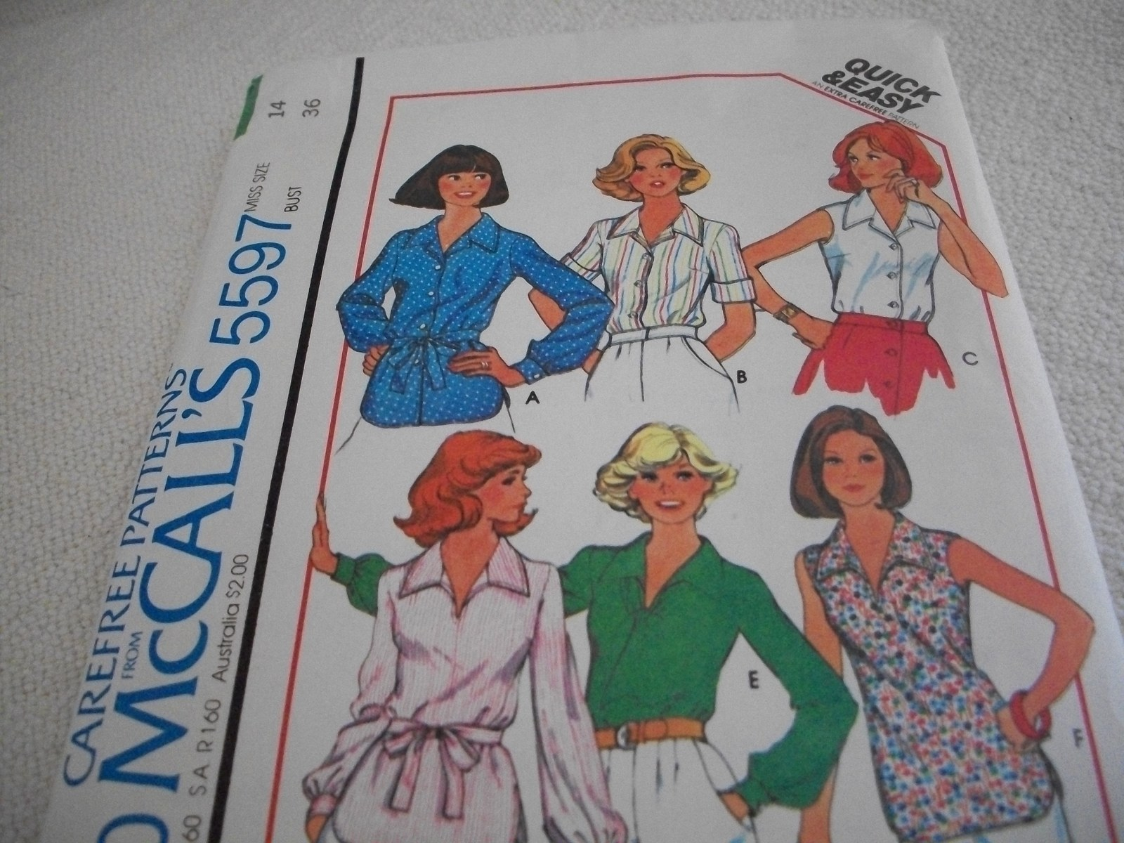 Primary image for Misses' Blouses Pattern McCall's 5597