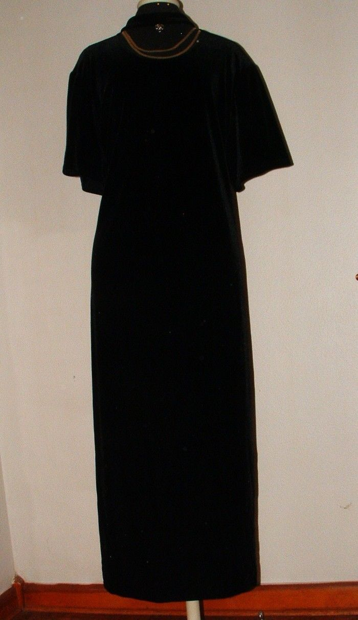 Primary image for PLUS SZ 26/28W STRETCH VELVET WITH CHOKER ACCENT NECK DRESS