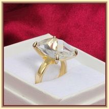 CZ Diamond Luxury Crystal Bague Solitaire Love Promise 18k Gold Plated Ring image 3