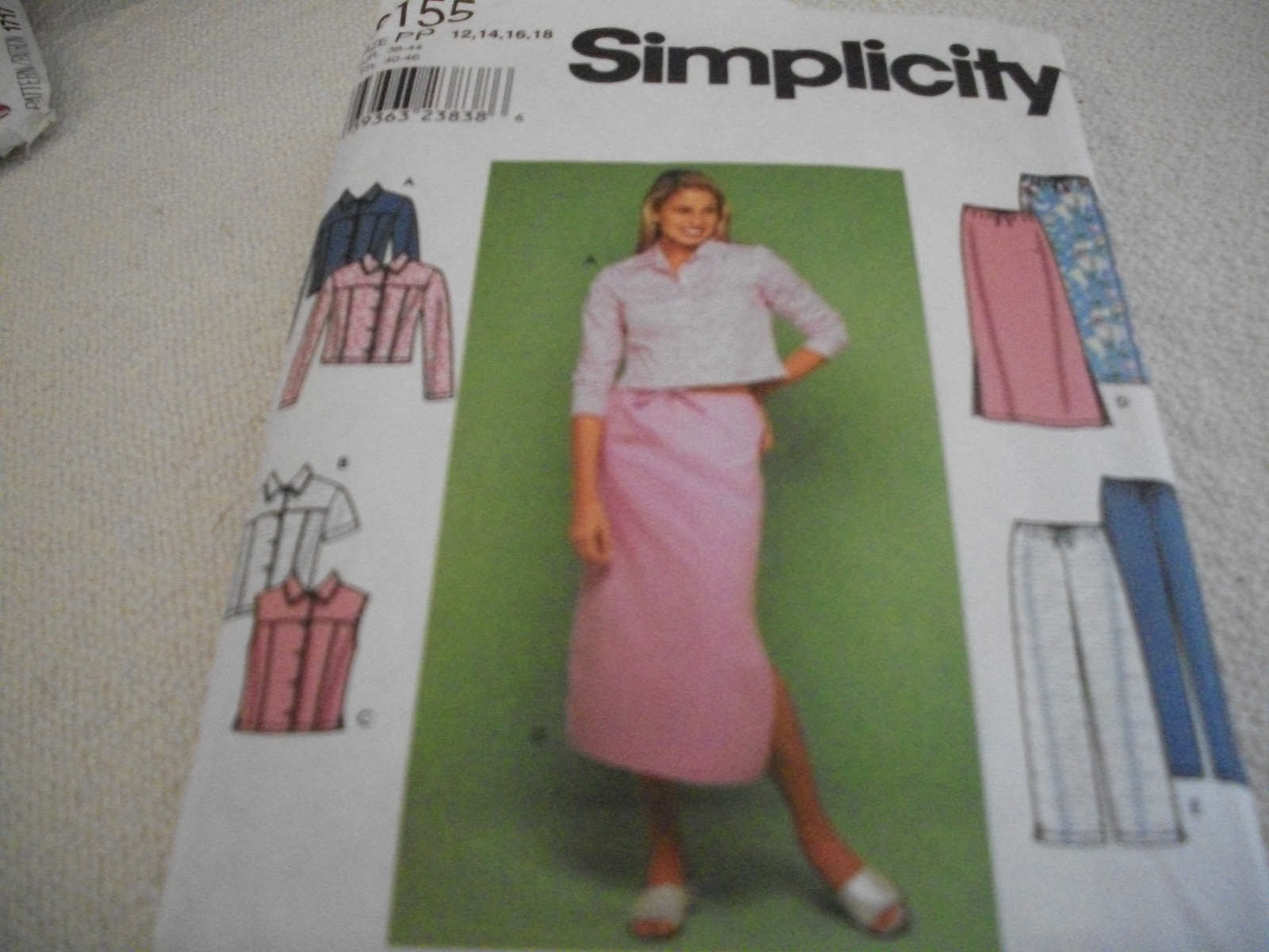 Primary image for Misses' Jacket, Vest, Skirt & Pants Pattern Simplicity 9155