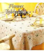 Y340 Crochet PATTERN ONLY Delicate Lacy Flower Tablecloth Pattern - $9.45