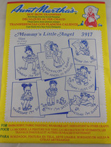 "NEW Aunt Martha's Hot Iron Transfers #3917 ""Mommy's Little Angel""  Days ... - $3.95"