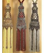 Y348 Bead PATTERN ONLY Elegant Beaded Timeless Tassel Tiebacks Pattern - $10.50