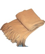 Classic Wide Unisex Plain Solid Alexis Camel Color Winter Fringed Scarf ... - $7.99
