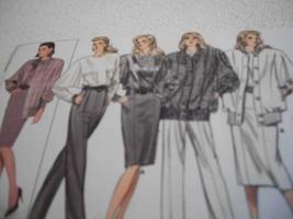 Misses' Jacket, Top, Skirt & Pants Pattern Butterick 5863 - $7.00