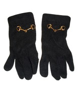 Ladies Black 100% Casmere Emblesished with Gold Tone Links Soft GlovesW/... - $1.50