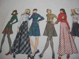 Misses' Bias Skirt, Flare Shirt and Top Pattern Simplicity 5196 - $7.00