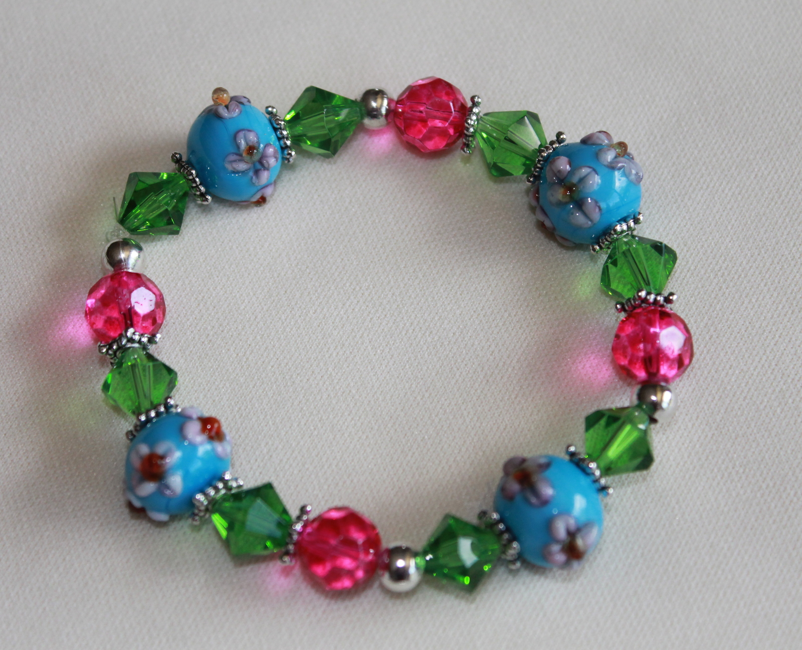 Summertime Fun Beaded Bracelet