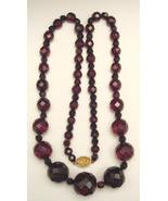 FACETED CHERRY AMBER NECKLACE - $190.00