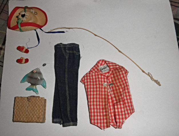 "Barbie  ""Gone Fishing Outfit""  Vintage & Rare ""Gone Fishing Outfit"""