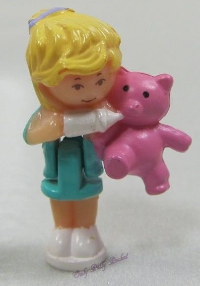 Primary image for 1994 Original Vintage Polly Pocket Dolls Baby Bear Pendant - Polly & Bumper