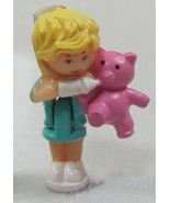 1994 Original Vintage Polly Pocket Dolls Baby Bear Pendant - Polly & Bumper - $7.52