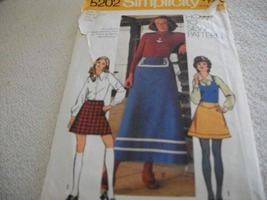 Misses' Skirts Pattern Simplicity 5202 - $10.00