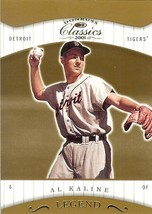 2001 donruss classics al kaline detroit tigers serial # 1480/1755 baseball card - $2.99