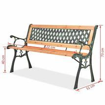 vidaXL Patio Wooden Garden Bench w/ Backrest Vintage Seat Diamond/Rose Design image 12