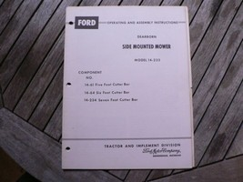 Ford Tractor Dearborn Side Mounted Mower 14-233 Assembly Manual Instructions - $50.00