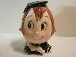 Lefton Graduate Piggy Bank - Boy Head -As Found Estate - Minor Wear - $12.82