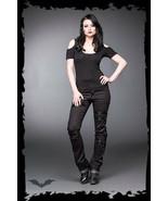 Women's Goth Pants Punk Zippers Black Boot Cut Trousers Streetwear Fashion - $82.82