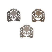 Lot of 8 Adjustable Filigree Toe Ring Findings ... - $7.22 - $7.51