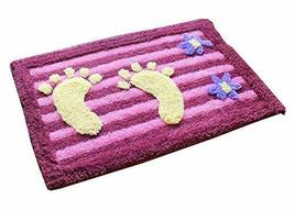 PANDA SUPERSTORE Lovely Non-Slip Foot Doormat Room Mat Decor Rug,Purple,15.523.5
