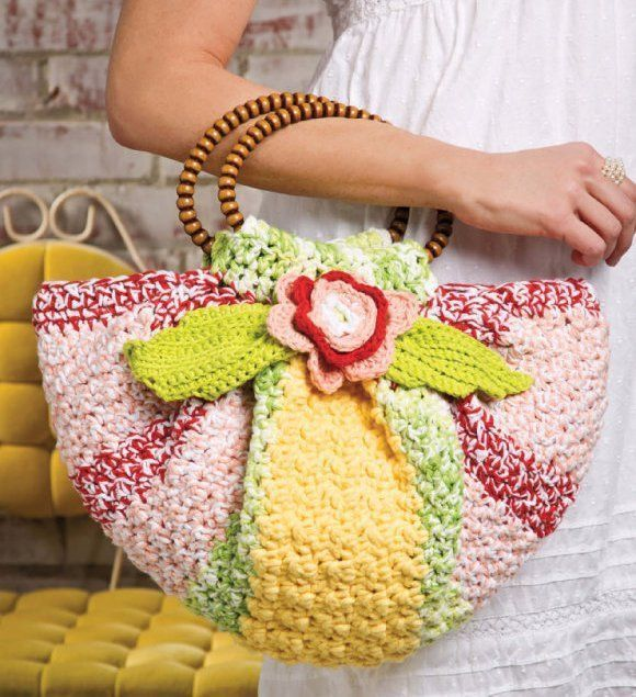 Primary image for W497 Crochet PATTERN ONLY Citrus Blossom Purse Bag Pattern