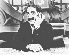 GROUCHO MARX POSTER 11X14 INCHES MARX BROTHERS DUCK SOUP RARE OOP 29X36 CM - $24.99