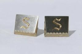 "Vintage Hickok Men's Cuff Links Monogram Initial ""S"" - $16.02"